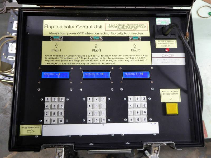 Practical control panel with triple keypads & LCD text displays in a rugged case