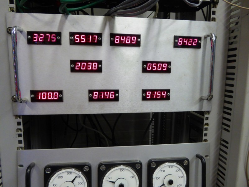 Practical LED numbers panel