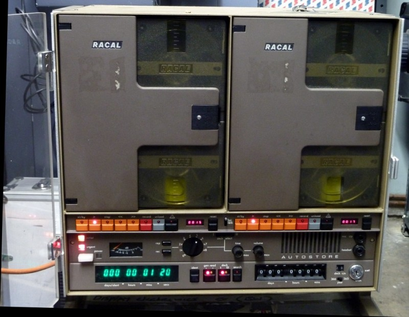 Racal dual reel to reel laboratory tape recorder