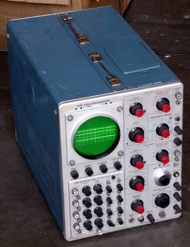 Practical 1955 Tektronix 545A laboratory oscilloscope on trolley
