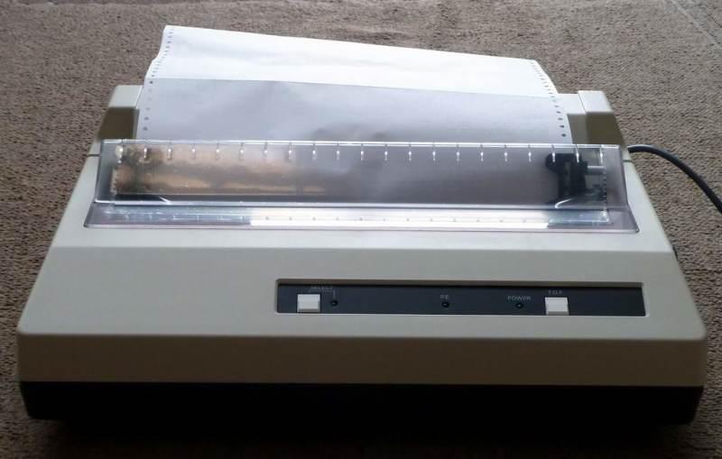 Practical 1980s - 1990s dot matrix printer