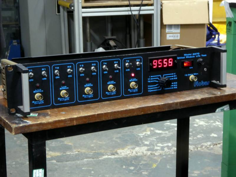 Practical black FIOBUS control panel with red LEDs digital counter & switches