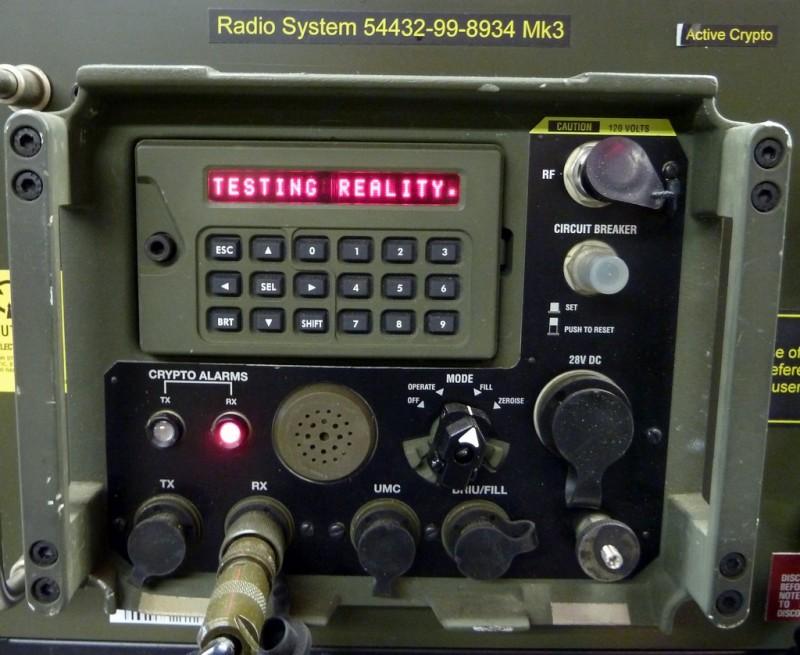 Military radio control panel