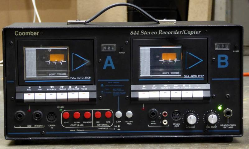 Professional Coomber 844 twin cassette duplicator/recorders