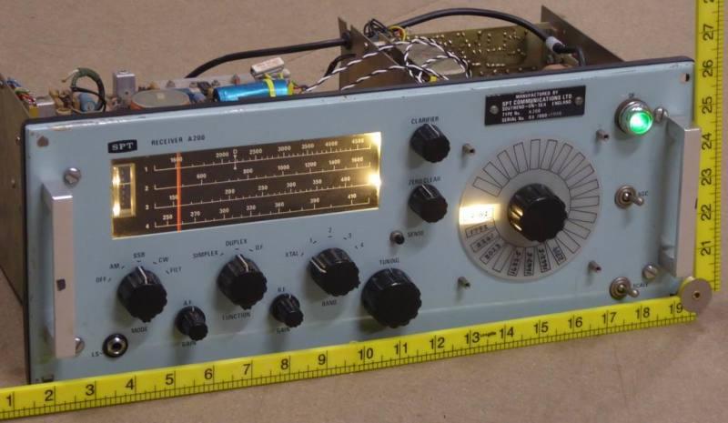 Practical 1960s/1970s marine radio with illuminated tuning scale & knobs
