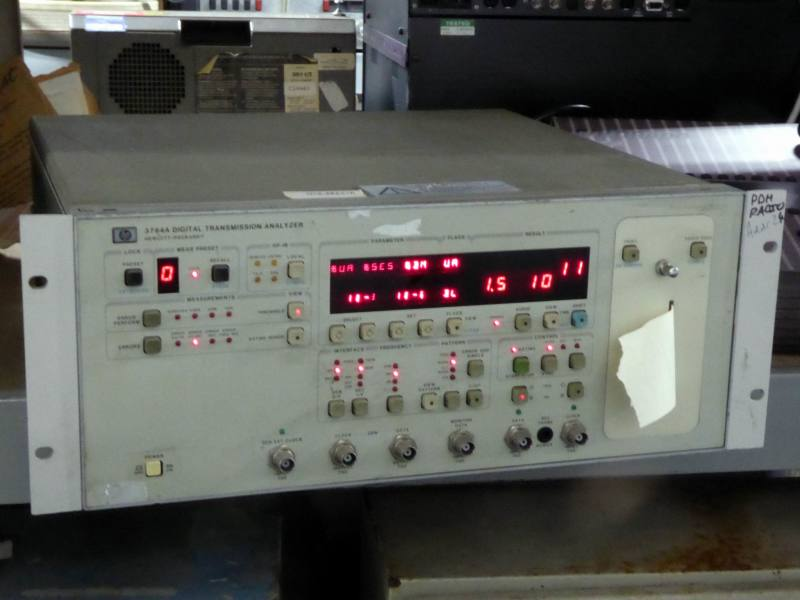 Practical Hewlett Packard 3764A digital communications analyser with red numeric LED displays