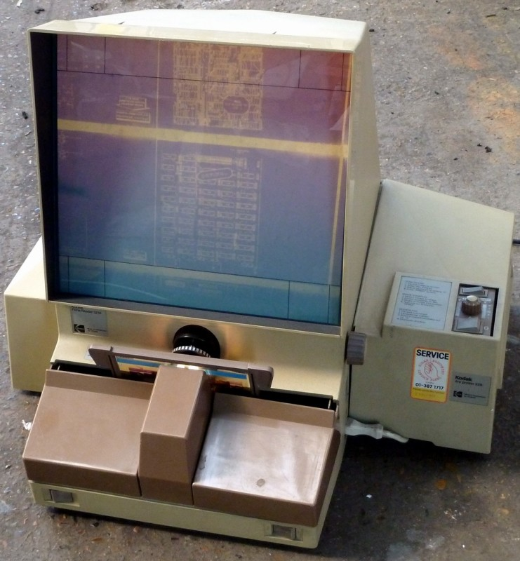 Practical Kodak microfiche viewer