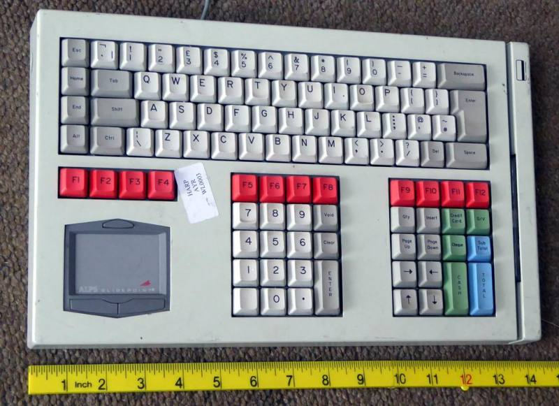 Financial dealers keyboard with track pad & card slot