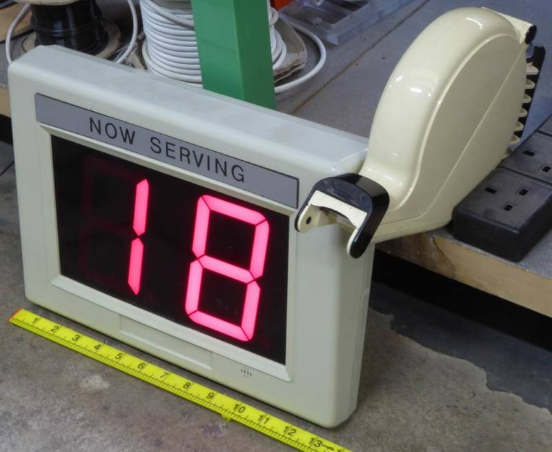 Queuing system counter/display & ticket dispenser