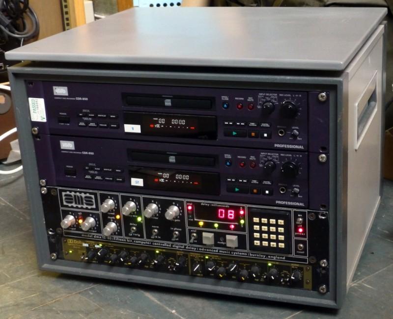 Audio themed practical panels in desktop cabinet 2