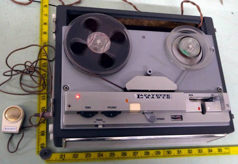 1960s practical Lafayette reel to reel tape recorder