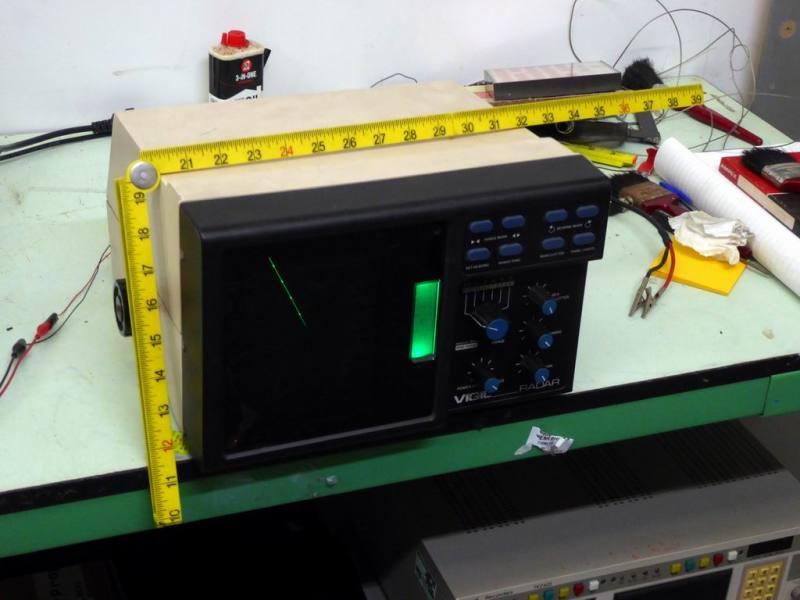 Practical small ship's radar display