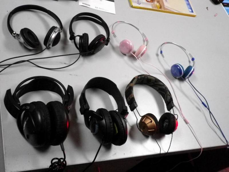 Selection of contemporary headphones