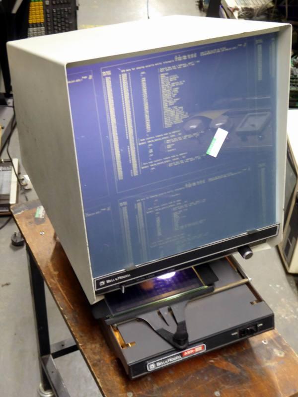 Practical Micron 750 microfiche viewer