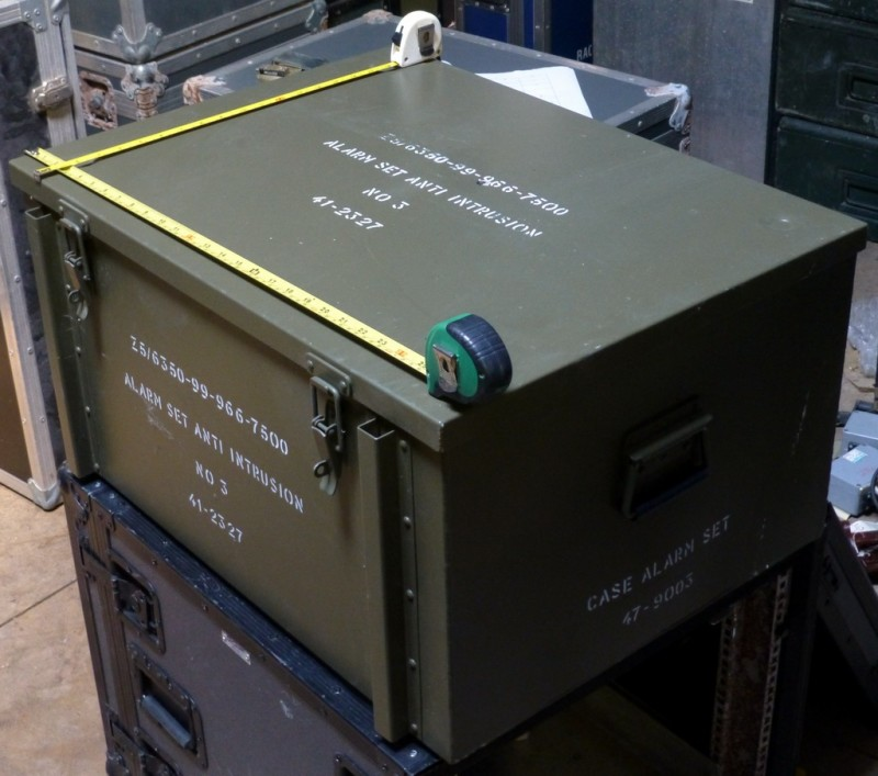 Khaki green military flight cases