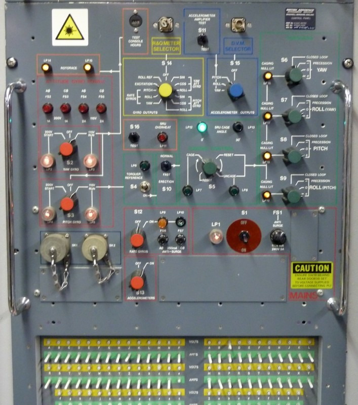 Large military/industrial practical control panel