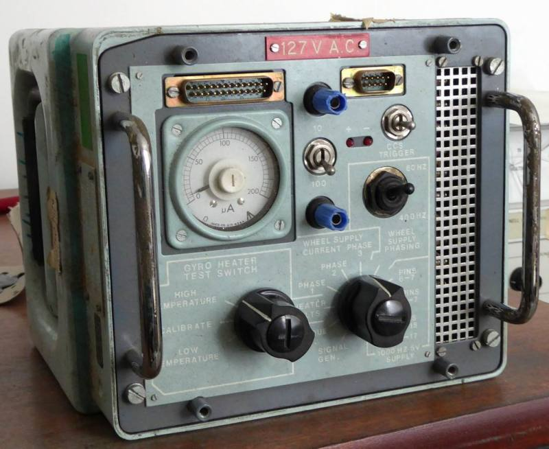 Navy electronics box with switches & analogue meter/gauge