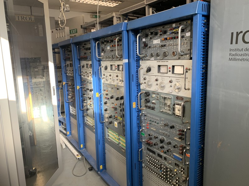Blue 5ft server/electronic equipment rack with practical panels