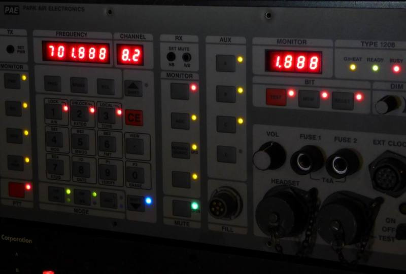 Detail from one of our hi-tech military control panels
