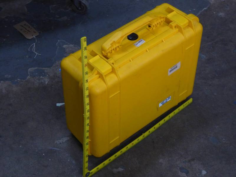Yellow medium sized ruggedised Peli case