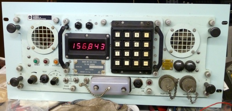 Practical navy/cold war TX/RX radio control panel