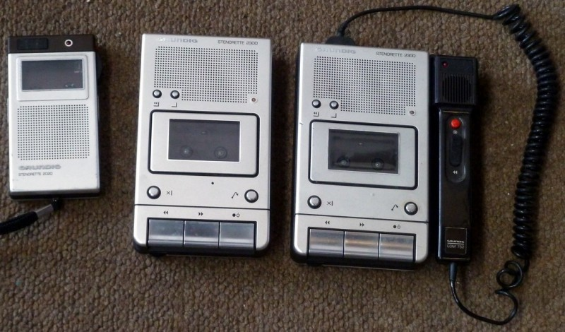 Dictaphones from the 1980s/1990s