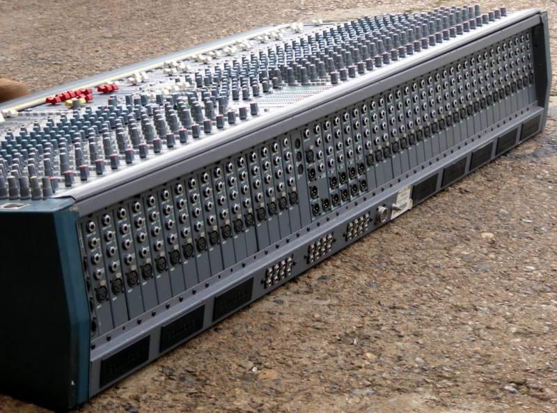 Giant 40 channel professional Soundcraft audio mixer