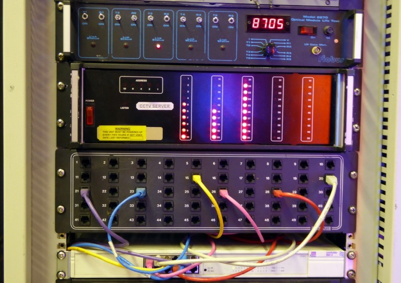 Example Selection of Black control panels & patch panel