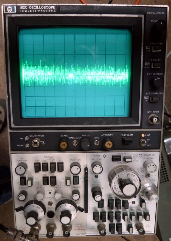 Professional Hewlett Packard laboratory oscilloscope