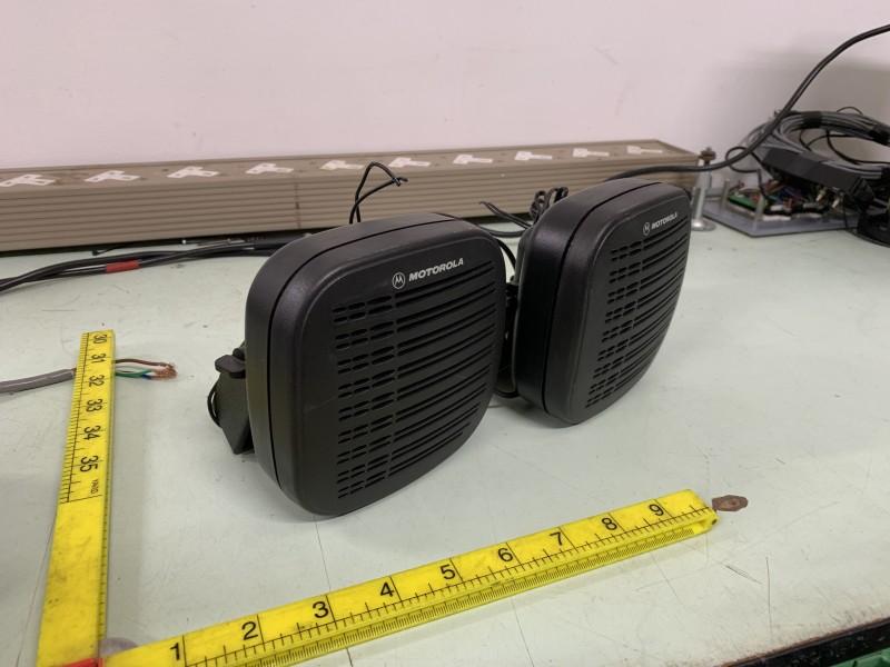 Small wall mountable Motorola speakers with bracket