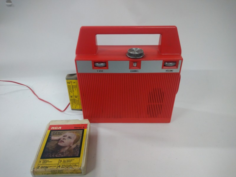 Portable 8 Track Player