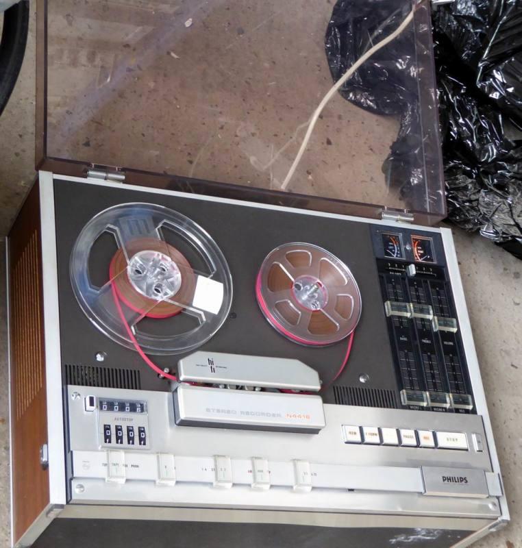 1970s practical reel to reel tape recorder