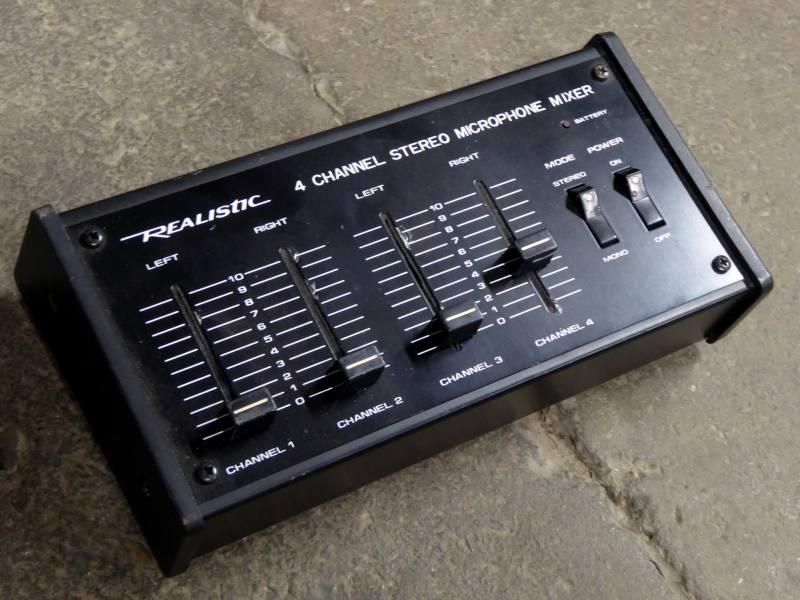 Mini desktop audio/microphone mixer