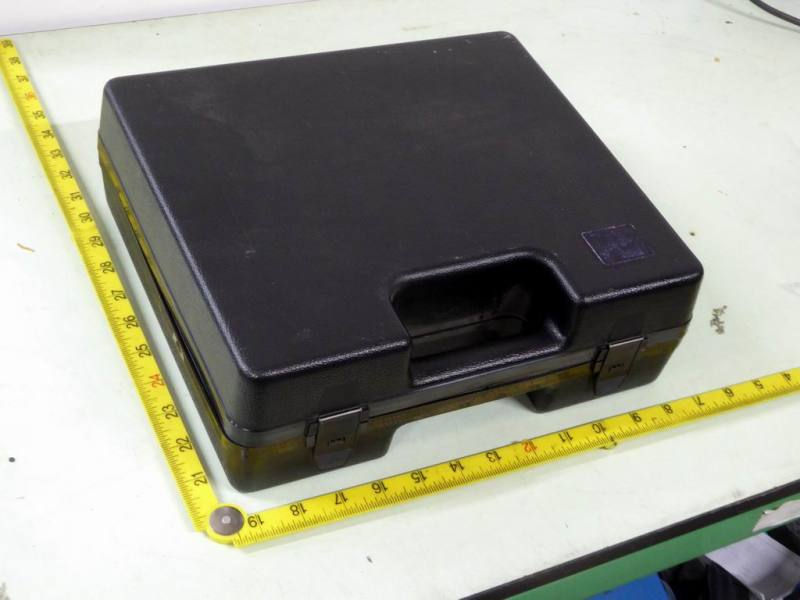 Small black plastic component carrying cases
