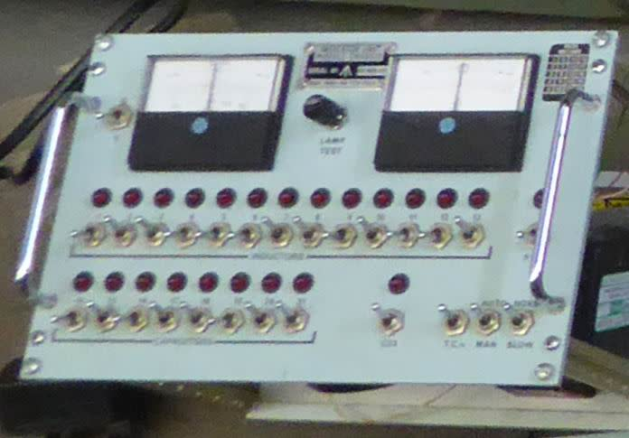 Practical Navy control panel with moving meter needles & LEDs