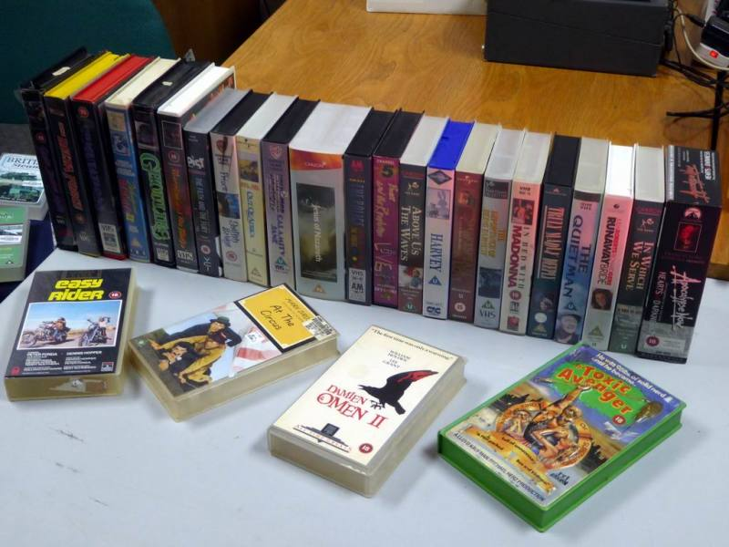 Selection of 1980s-1990s VHS pre-recorded tapes