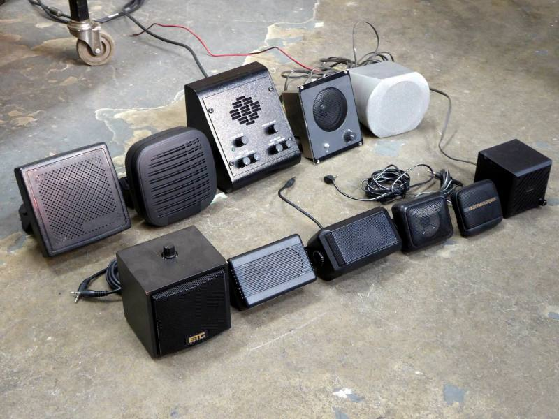 Selection of small wall mount & desk/table top speakers