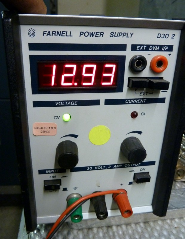 Laboratory bench power supply with digital display