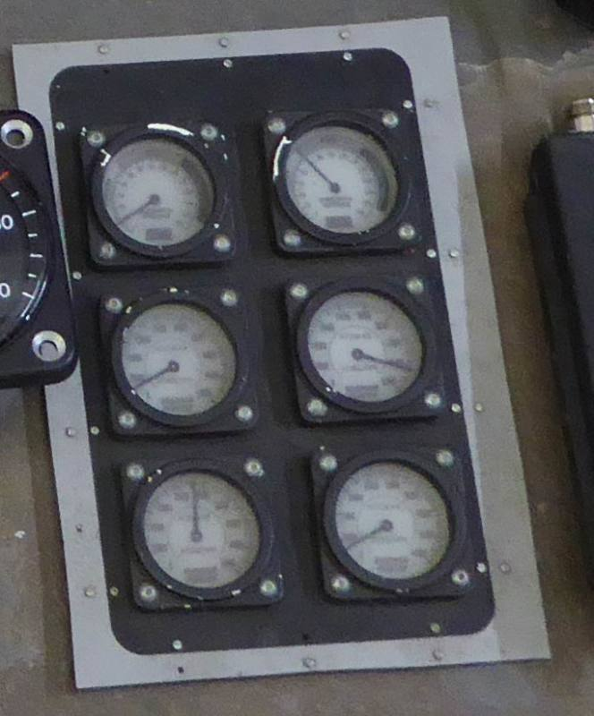 Group of analogue meters/dials