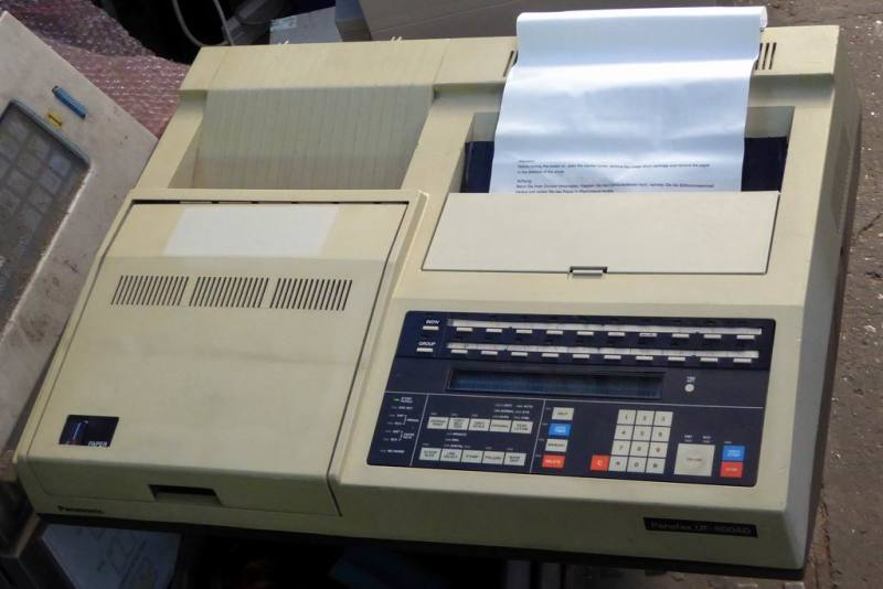Large practical 1980s office fax machine