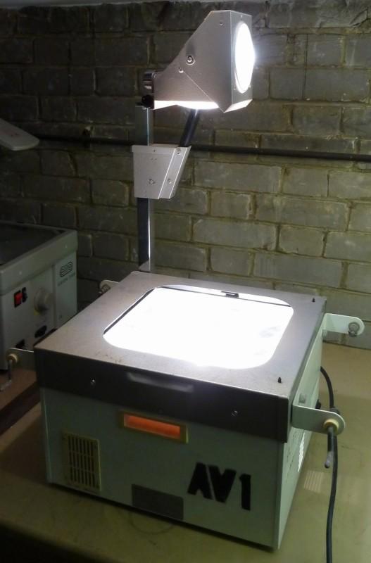Retro 1960s practical overhead projector
