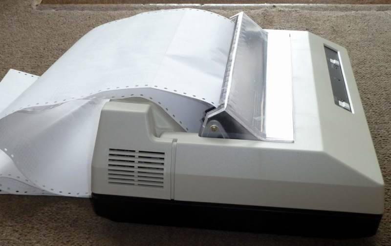 Practical 1980s dot matrix printer