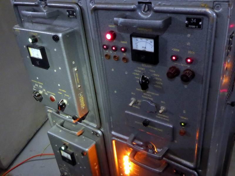 Practical Russian/Soviet Union cold war era military radio transmitter racks