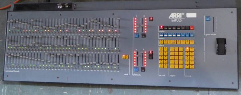 Large lighting control console/desk filler