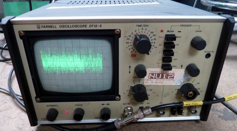 Practical Farnell DT12 oscilloscope