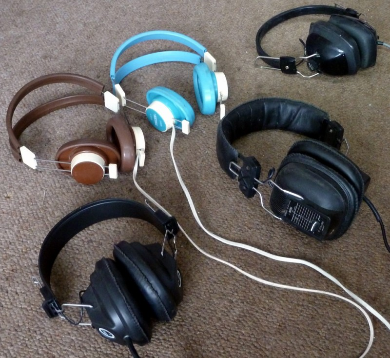 Example Selection of 1960s-1970s period headphones