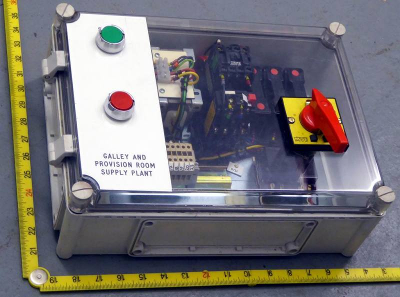 Transparent fronted electrical switch box