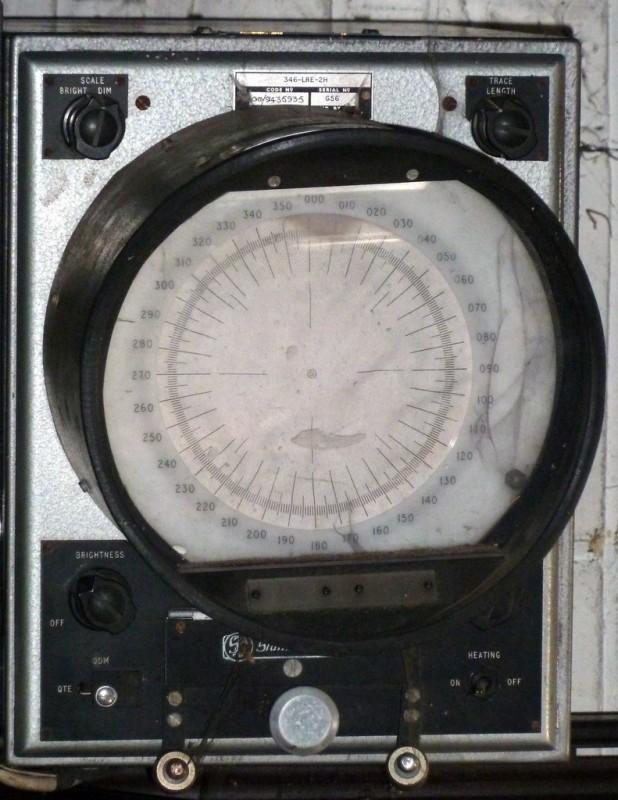 Practical military radar viewing screen with deep hood