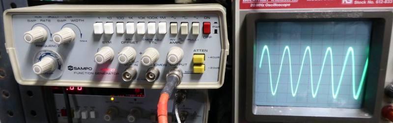 Sampo FG607 laboratory function generator/wobble box for oscilloscopes.