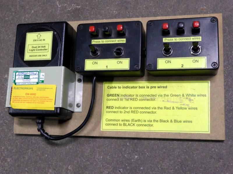 4 channel 24 Volt switched power supply controller for beacons/lamps